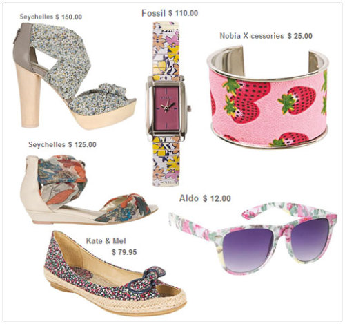 I heart florals… This year more than any other, I have a strong love on for floral and feminine patterns. But I find this trend executes best through the power of accessories and shoes!