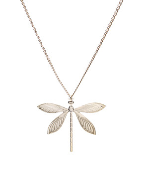 ASOS Long Dragonfly Necklace is only 11 bucks. The best part about it is that it doesnt have enamel wings or jeweled wings. Its all gold Filigree. Very sophisticated. This is especially for my dear friend Barrie who LOVES dragonflies :D