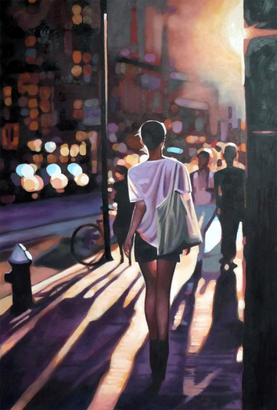 Oil painting by Tom Saliot