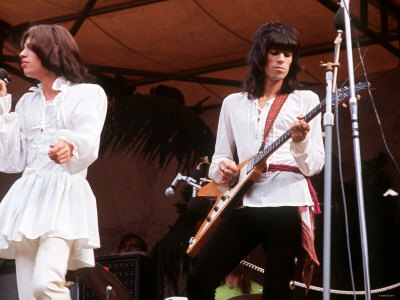 MICK JAGGER  et KEITH RICHARDS (Hyde Park, 1969) (Via onlysleeping66)