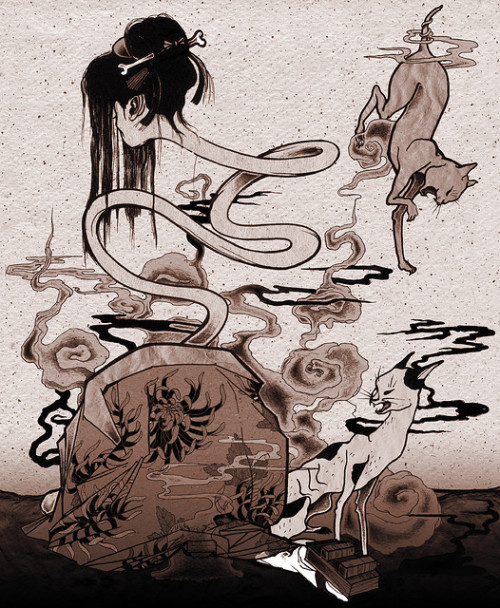morenowagain:  Rokurokubi by totemica on Flickr.