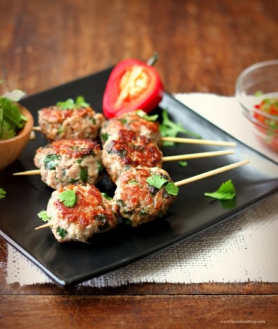 Chinese Meatballs with Turkey from On a Stick! by Matt Armendariz Recipe