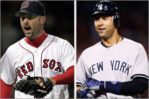It's that time again. Yankees vs. Red Sox Derek Jeter will dig in against Tim Wakefield in the bottom of the first inning tonight and we should all take a moment and appreciate the little slice of baseball history taking place. Talk about old friends. Counting the postseason, Wakefield has faced Jeter 127 times in his career. That's the most Wakefield has faced any batter and the most Jeter has faced any pitcher. (via Tim Wakefield vs. Derek Jeter: A matchup for the ages - Extra Bases - Red Sox blog)