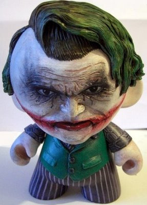 Daily Geekstomization: Y so srs? Custom Joker Munny by Melvita Mentari aka tarichip. (Check out the Daily Geekstomization Archives for more geeky custom toys!) #custom toys