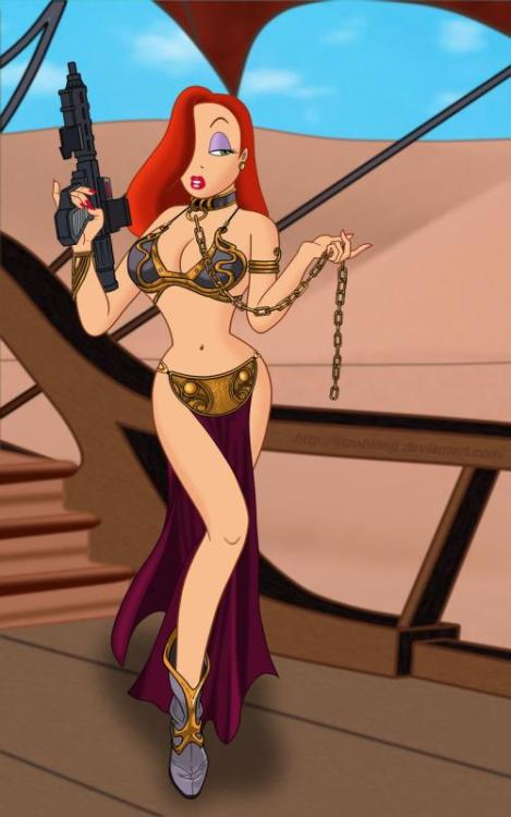 Another slave Leia/Jessica Rabbit mashup.