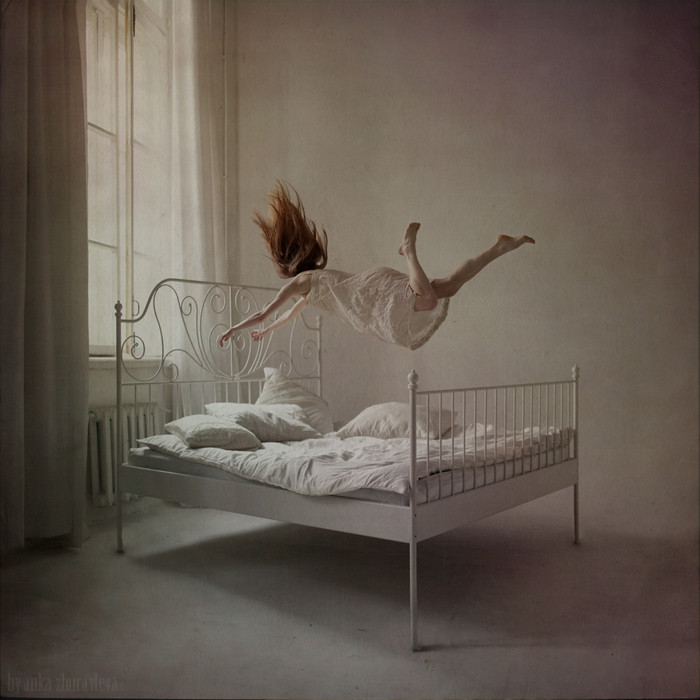 photojojo:  Sweet dreams by Anka Zhuravela | See the rest of the 'distorted gravity' series. This post is by Karishma as part of Photojojo's Show & Tell week.