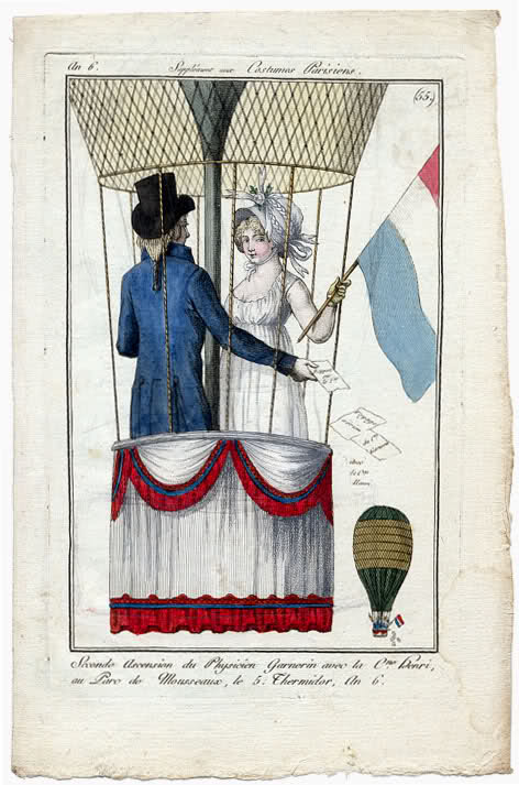 Journal des Dames et des Modes, 1797. In honor of my 500th post (!!!), I present you with one of my all time favorite fashion plates.  For goodness sake, they are ballooning!