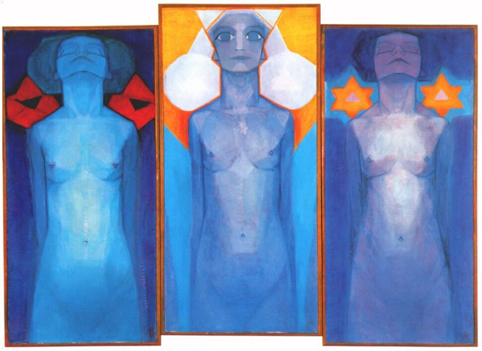 Piet Mondrian, Evolution (1910-11), oil on canvas (178 x 85 cm)