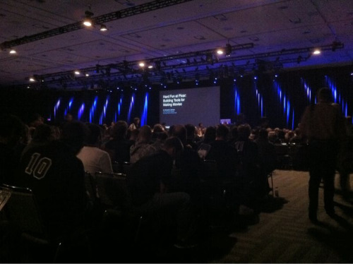 "WWDC 2011 - ""Hard fun at Pixar : Building Tools for making movies"". Session right now! :-)"