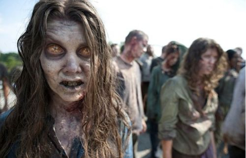 The second season of The Walking Dead isn't set to debut until later this year, but that doesn't mean AMC can't get you excited for what's to come. Per AMC, here's your first glimpse at a season two female zombie. What is going on with her eyes?