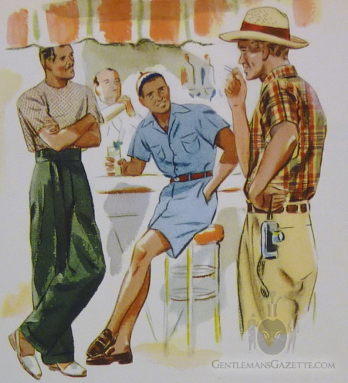 High summer style, circa 1937, at Gentleman's Gazette.