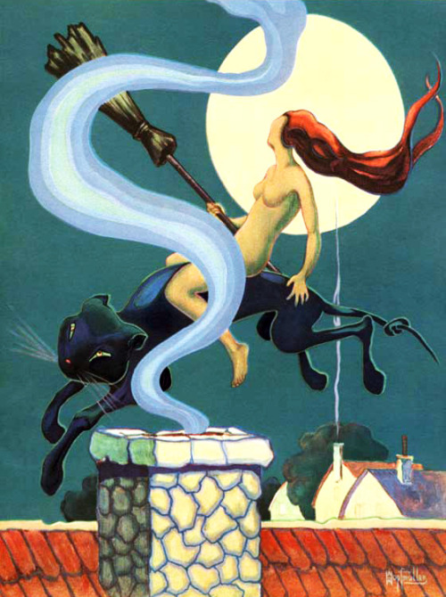 vintagegal:  art by Ham Hopfmueller 1921