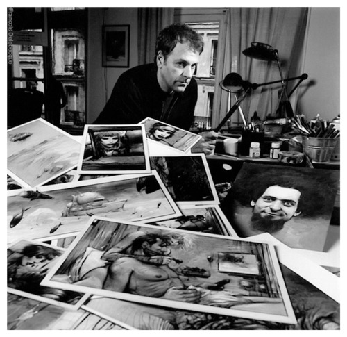 Enki Bilal in his studio. via tanzdreamer