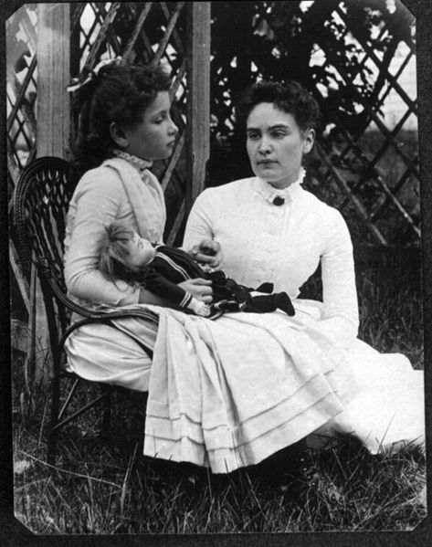 Helen Keller and Annie Sullivan, July 1888.