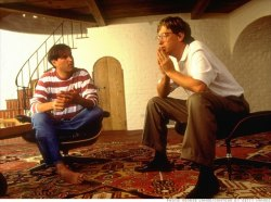 awesomepeoplehangingouttogether:  Steve Jobs and Bill Gates