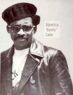 Bunchy Carter was born on October 12, 1942. He died after being shot in a shoot out at UCLA. He was the leader of the Black Panthers. One accomplishment of Bunchy Carter was that he convinced the Slauson's to join the Black Panthers so they could stop police brutality. He was a great leader because he changed and he also helped a lot of people.