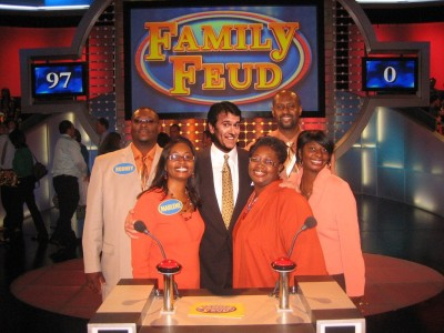 It's Family Feud. With your host, Bruce Campbell!