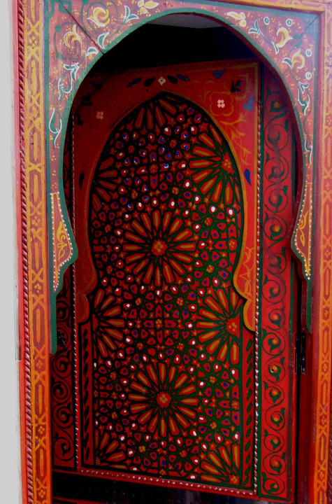 My Bohemian Aesthetic Gorgeous, vibrant door with Islamic design