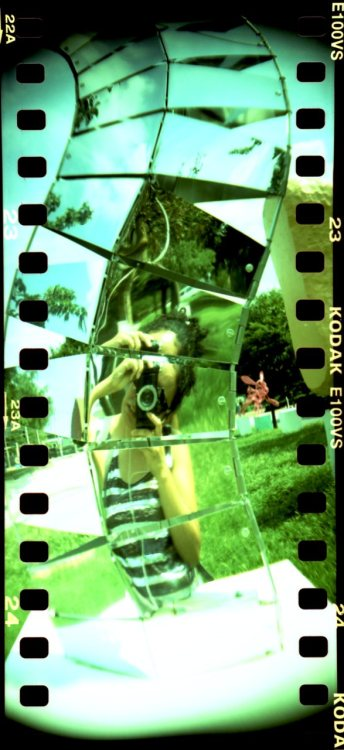 Lomo Sprocket Rocket Self Portrait (by vtayeh on Lomography)