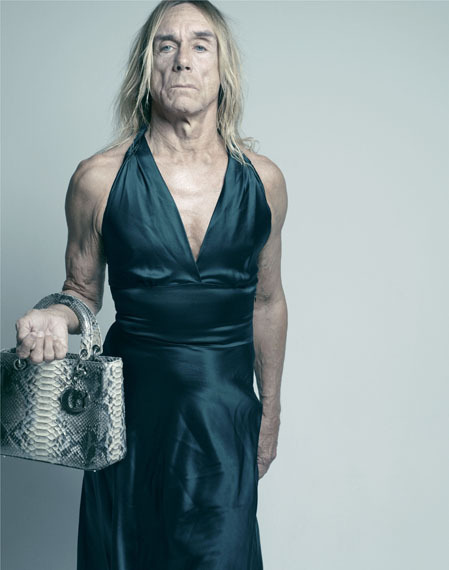 Iggy Pop Carine Roitfeld with Lady Dior