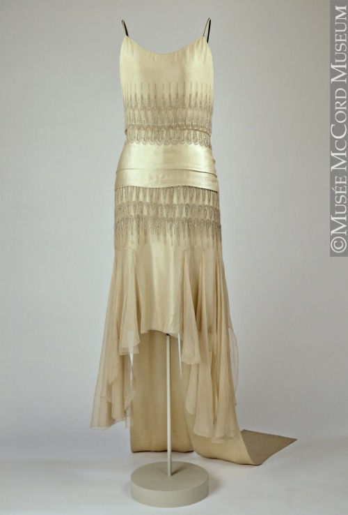 Evening dress by Lucien Lelong, 1928 France (worn in Canada - Montreal), McCord Museum