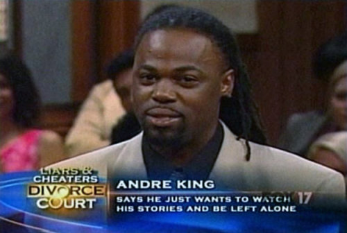 He just wants to watch his stories and be left alone.  Don't we all, Andre, don't we all.