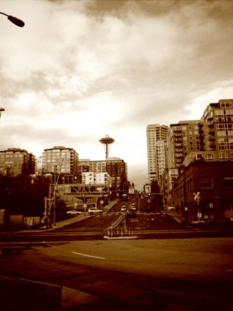 Downtown Seattle…can you tell I like sepia filters :)