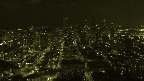 The Emerald City at night