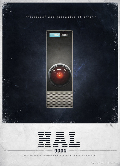deroli:  2001: A Space Odyssey Themed Ads For HAL 9000 & Pan Am