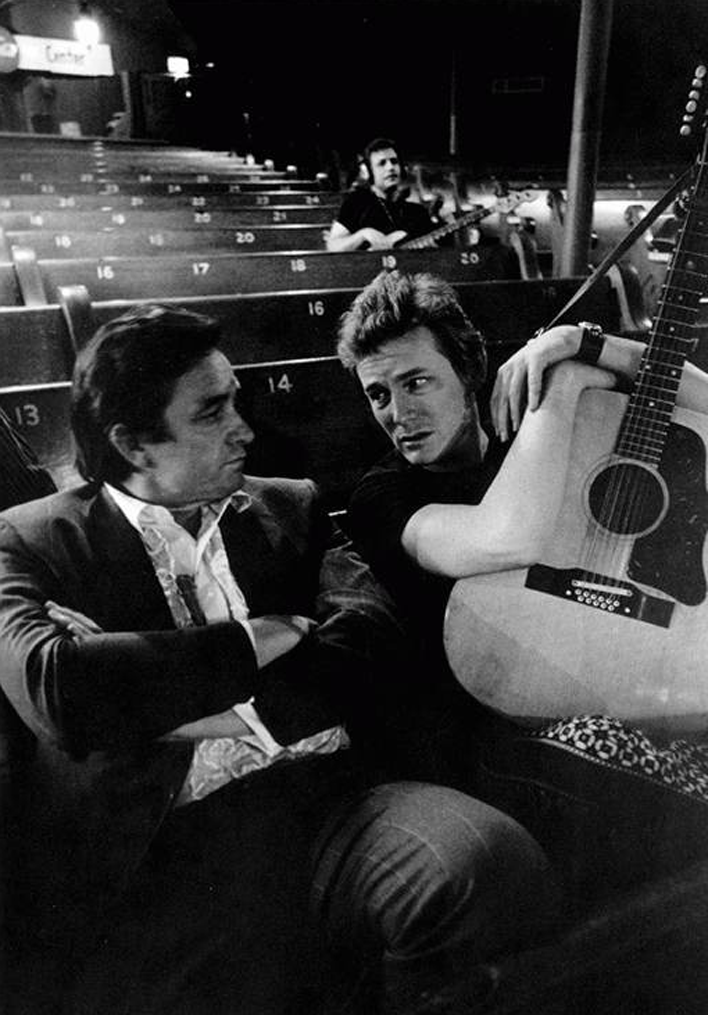 Johnny Cash and Gordon Lightfoot, 1969.