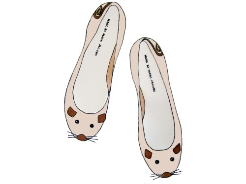 sketchesofasocialite:  Marc by Marc Jacobs mouse flats. $230. Need ASAP.