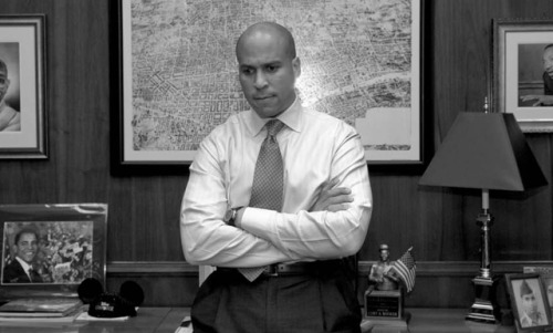 Cory Booker loves Newark: Star Democrat says no to Senate run There was a rumor earlier today that Newark Mayor Cory Booker, famous for his faux-feud with Conan O'Brien a few years back, was considering a run at the US Senate. Booker is, without question, one of the Democrats' brightest national prospects, and one of our favorite politicians here at SFB. His candidacy would be a major coup for the party. However, Booker quickly swatted down the rumors, insisting that he'll finish his term as mayor. While this is a disappointment for national Democrats, it says a lot about his commitment to Newark, and by extension, his integrity as a politician (Booker often turns down appealing offers in order to remain Newark mayor). Once his tenure in Newark is up, however, we can't help but hope he'll set his sights on higher office. Way higher, if you catch our drift.  source Follow ShortFormBlog
