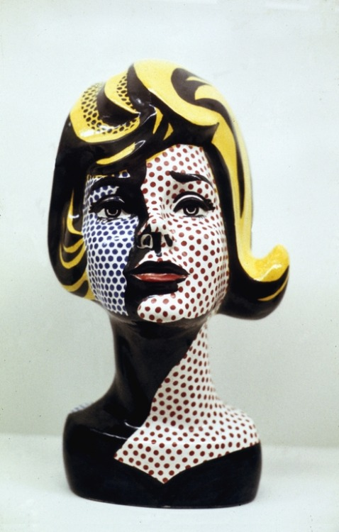 fuckyeah-arthistory:  Head with Black Shadow - Roy Lichtenstein, 1965. Ceramics.