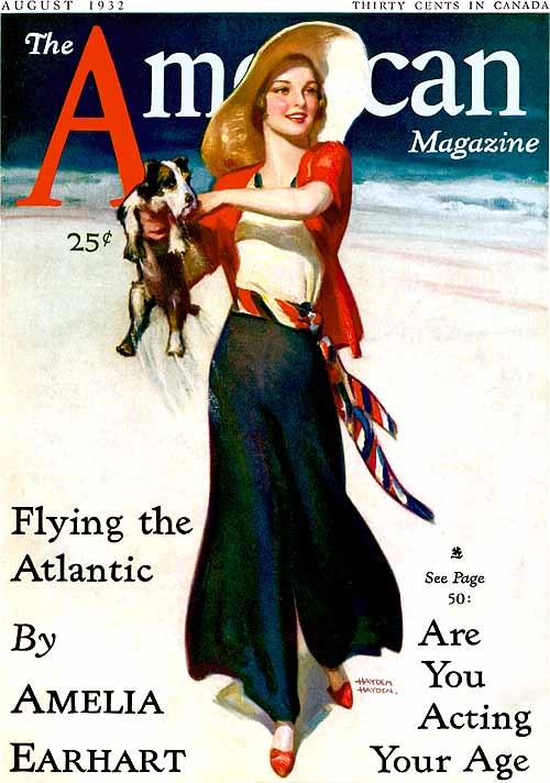 Cover of The American Magazine by Hayden Hayden, August 1932