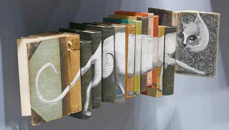 liberal-life:  I love these book paintings! See more here.