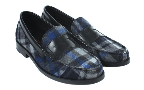 Twisted Wool Plaid Penny Loafers, twisted wool plaid topped with a polished black trim. Exclusively made for Colette by Tommy Hilfiger x G.H. Bass & Co.