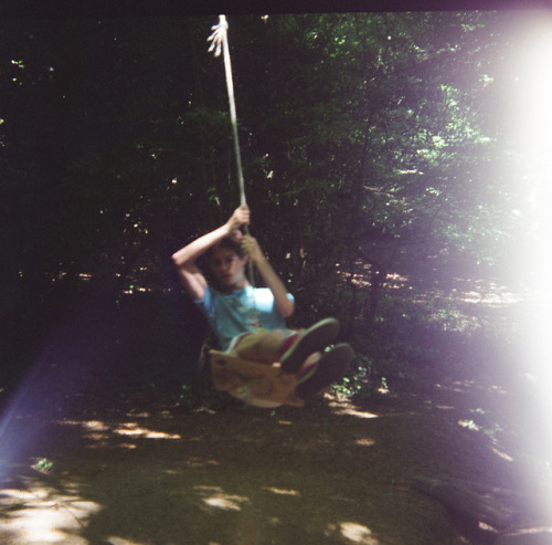 Luke on Swing, Highgate Woods on Flickr.