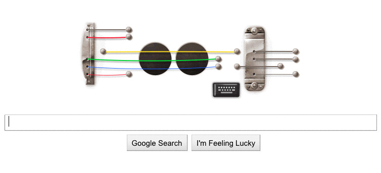 "Rock out with Google's playable Les Paul ""Doodle""For those about to rock, Google Inc. salutes you. To honour the legendary recording artist and electric guitar pioneer Les Paul, Google has created a special ""Doodle"" to mark what would have been the rock and roll trailblazer's 96th birthday.On Thursday, the logo on Google's homepage – also known as a ""Google Doodle"" – will be replaced by an interactive Les Paul electric guitar, one visitors can actually use to rock out and record their own music."