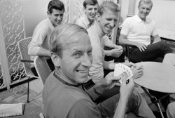 interleaning:  At the World Cup in 1966, England relaxed between matches by letting Bobby Charlton beat them all at cards.