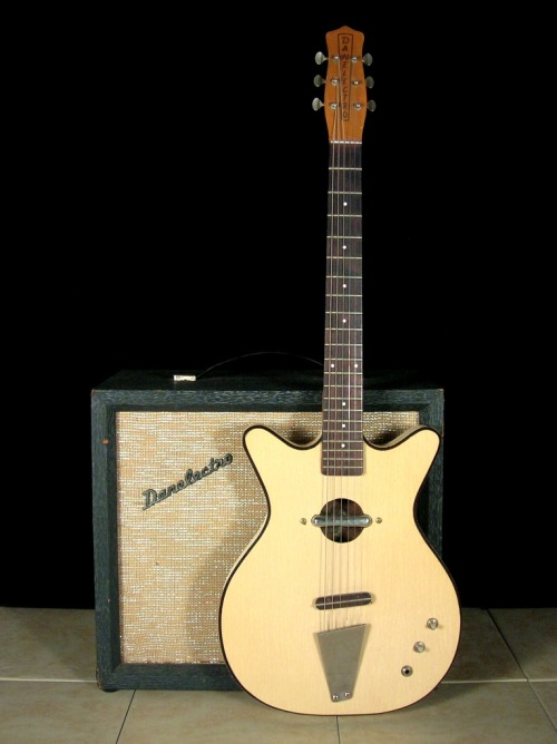 1965 Danelectro Convertible. From '59 to '69, Danelectro produced a hollowbody shorthorn guitar with a pickup over a soundhole. It was reissued for a year run in 1999.  photo: paulplumeri.com