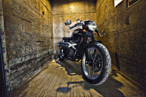 Scrafe - photo by Zac Fisher, taken at KK Motorcycle Supply warehouse 4