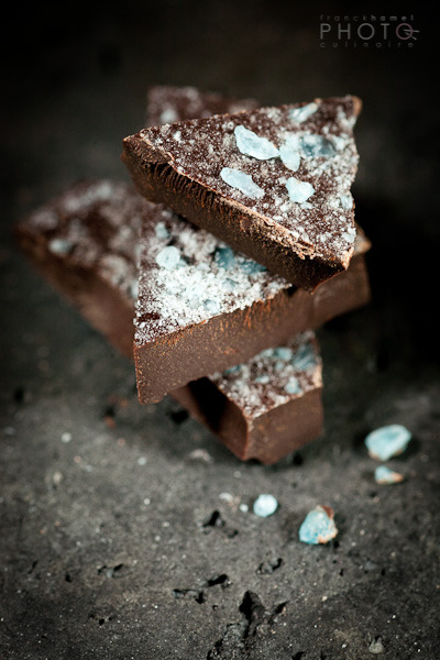 franckhamel:  Blue mint and dark chocolate