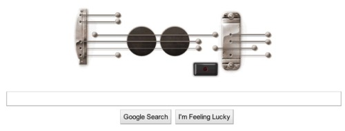 Playable Google Guitar Logo In Honor of Les Paul's Birthday | Laughing Squid It even allows you to record a thirty second song!