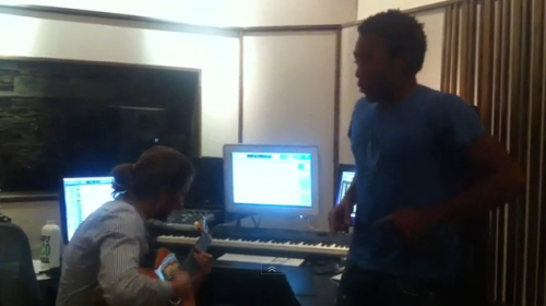 Childish Gambino, all acoustic, in the studio! <3