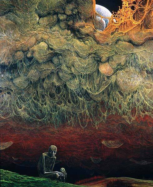 fuckyeahbeksinski:  Unknown (1976) Oil on hardboard, 73 x 87 cm.   Just rebloging this again because of the notes.
