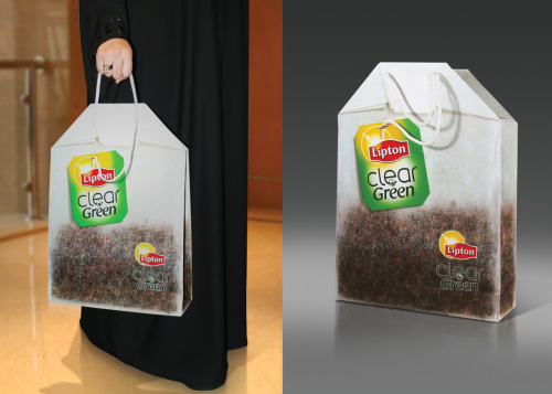 jaymug:  Creative attention seeking - Lipton Clear Green Tea bag: Carry Bag