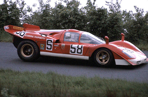 Nurburgring 1000Km (1970) Herbert Muller and Michael Parkes, in the Ferrari 512S.