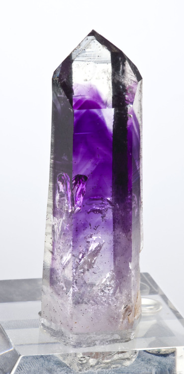 Amethyst included in Quartz from Namibia