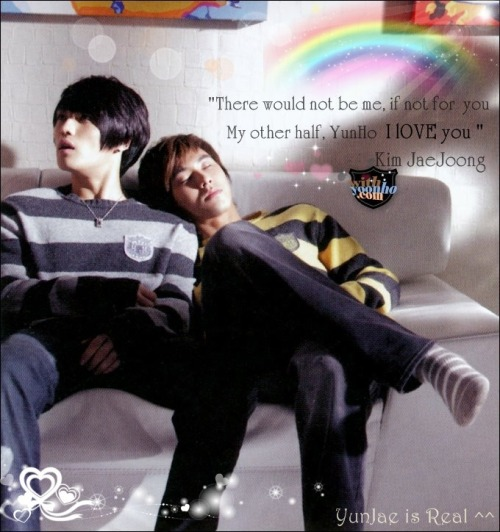 I made it. ^O^ YUNJAE lovelove love