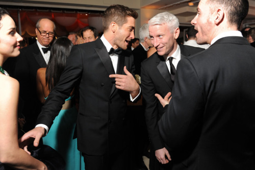 Jake Gyllenhaal and Anderson Cooper (submitted by leruffianbureau)
